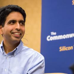 Sal Khan, founder of the Khan Academy, a free online education platform and nonprofit organization.