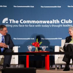 Leon Panetta, Former Director, CIA; Former U.S. Secretary of Defense; Author, Worthy Fights: A Memoir of Leadership in War and Peace, and Commonwealth Club CEO Dr. Gloria Duffy