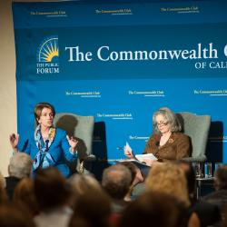 Nancy Pelosi, Minority Leader of the United States House of Representatives speaks at the Commonwealth Club